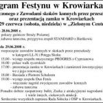 Program Festynu w Krowiarkach